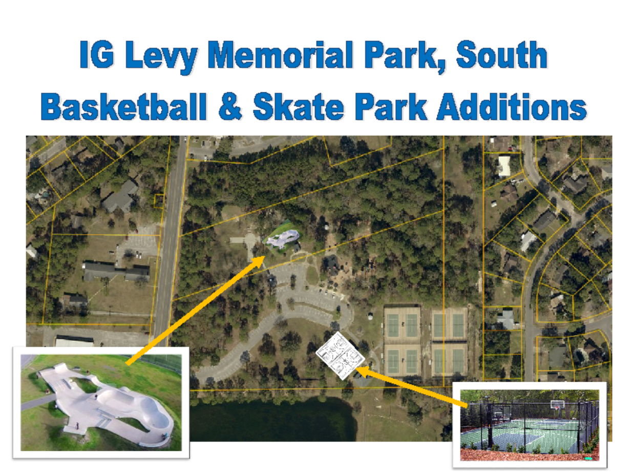 Colored Image IG Levy Memorial Park, South Basketball & Skate Park Additions Drawing
