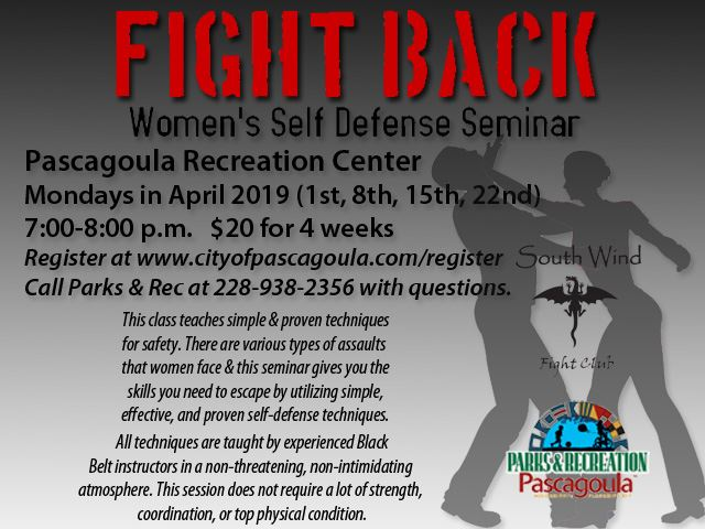 Womens Self Defense April 2019