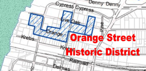 Map of Orange Avenue Historic District