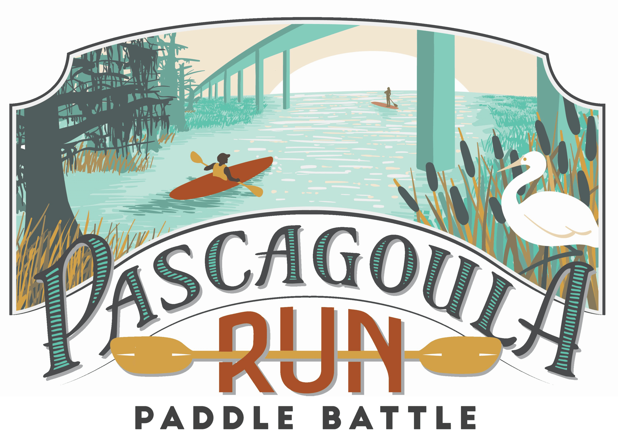 Pascagoula Run Paddle Battle Logo