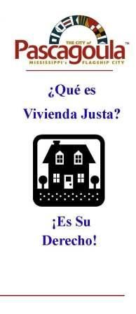Fair Housing Spanish Icon, text Que es Viviendo Justa? Es Su Derecho!